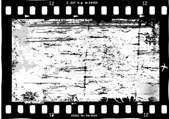 Wall Mural - frame of film, grungy photo frame,with free copy space,black and white