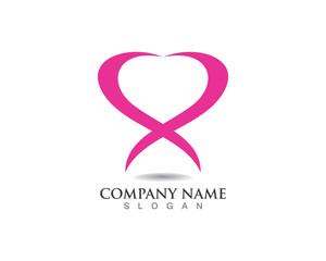 Love heart logo women love