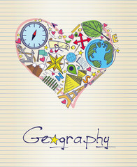 geography in shape of heart