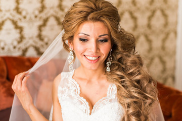 Beautiful Bride Portrait wedding makeup and hairstyle