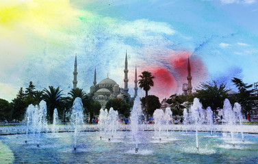 photo of the Blue mosque