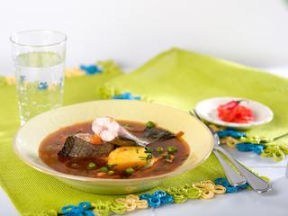 Chupin de Pescado, a typical Peruvian fish soup