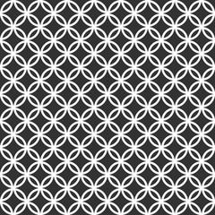 Sfondo pattern cerchi bianco e nero