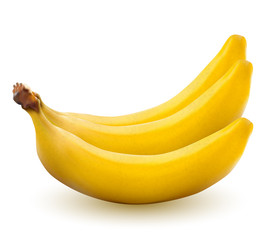 Yellow bananas isolated on a white background, vector illustration.