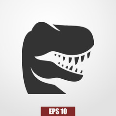 Dino icon vector. T-rex icon vector