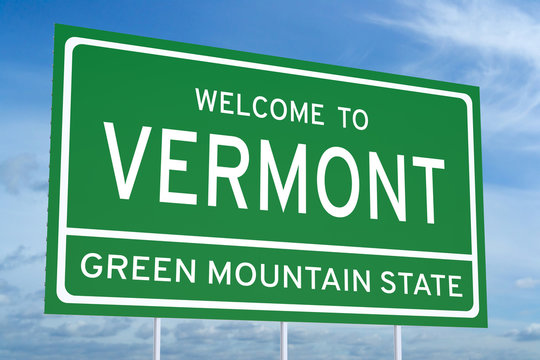 Welcome to Vermont state road sign