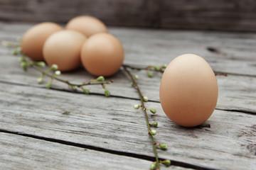 Eggs and spring sticks