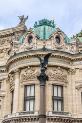 Opera National de Paris details (Garnier Palace, 1875), France.