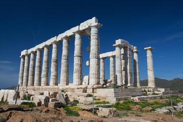 Tempel am Kap Sounion, Griechenland