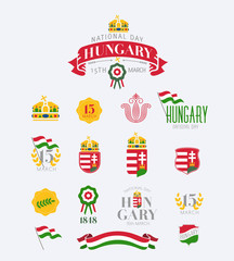 Hungary sign and symbols