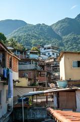 Rio de Janeiro, Brazil - December 14, 2015: Inside Rocinha favela, documentary editorial.