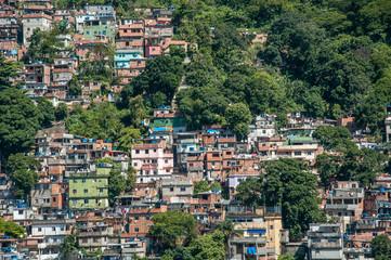 Rio de Janeiro, Brazil - December 14, 2015: Favela Rocinha, documentary editorial.