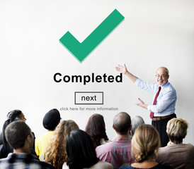 Completed Accomplishment Achievement Finished Success Concept