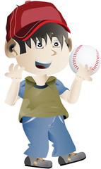 clip art of a boy holding baseball ball