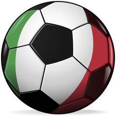 soccer football with italian flag