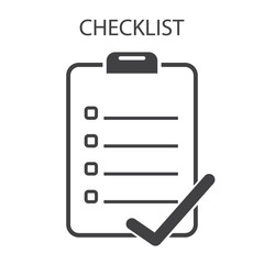 Checklist icon, vector format