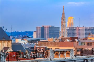 Papiers peints Bruxelles Cityscape of Brussels at sunset