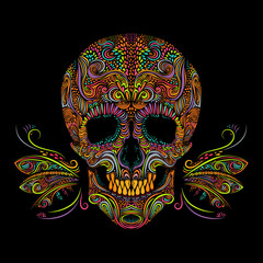 Decorative color skull