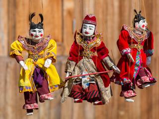 String Puppet Myanmar tradition dolls
