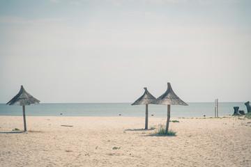 Sunny seaside landscape in eastern Romania