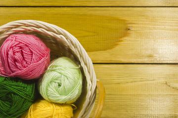 Set of threads for knitting