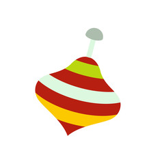 Toy spinning top icon
