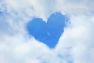 Heart shape on sky and cloud