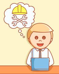 Online maintenance 404  illustration design
