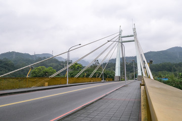 The landscape of Pingpu bridge in morning at Shenkeng district in New Taipei City, Taiwan.