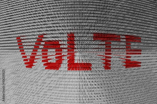 """VoLTE is presented in the form of binary code"""" Stock photo and ..."""