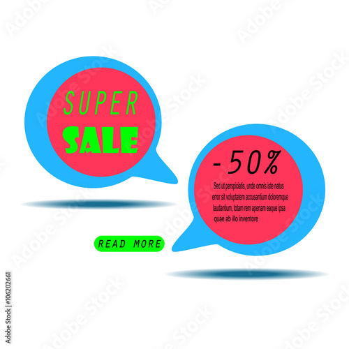 Colorful Sale Banner With Text Super Sale Sale Template Big