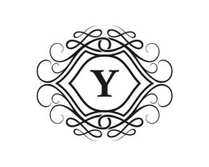 Y Letter Crest Logo