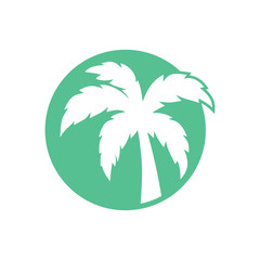 Palm Tree Logo Icon