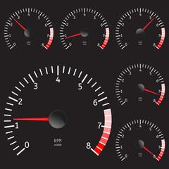 Tachometer icon.