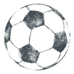 Soccer Ball / Football - Grunge Look