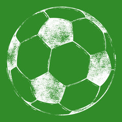 Soccer Ball / Football - Grunge Look