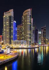 Tuinposter Dubai Panorama of Dubai marina