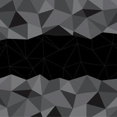 Black Mosaic Background, Vector illustration, Creative Business Design Templates