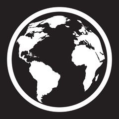 Icon of black and white globe