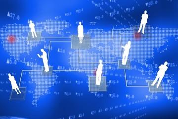 Online international community concept