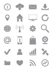 Gray Internet icons set