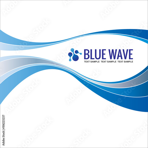 Business background template abstract blue wave design vector stock business background template abstract blue wave design vector accmission Gallery