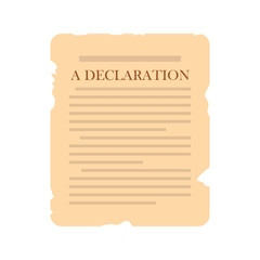 Declaration icon flat