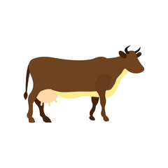 Brown cow icon