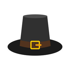 Gorgeous pilgrim hat icon