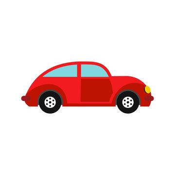 Car vintage car icon, flat style