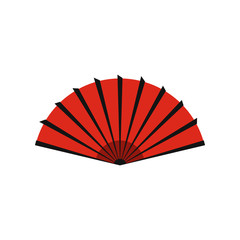 Red chinese dragon icon, flat style
