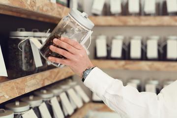 Fototapeta Sklep z herbatą.  rodzaj herbaty  obraz
