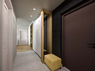 Hallway entrance 3D visualization