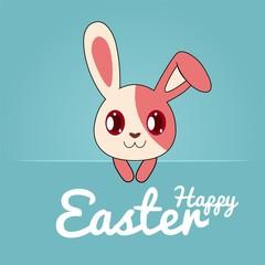 Adorable Bunny Easter Illustration